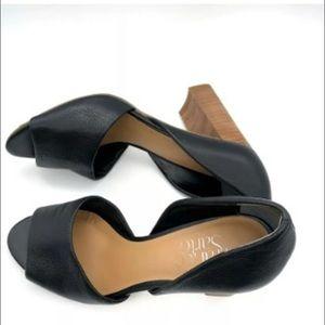Franco Sarto Emma d'Orsay Pump Black Peep Toe US 7